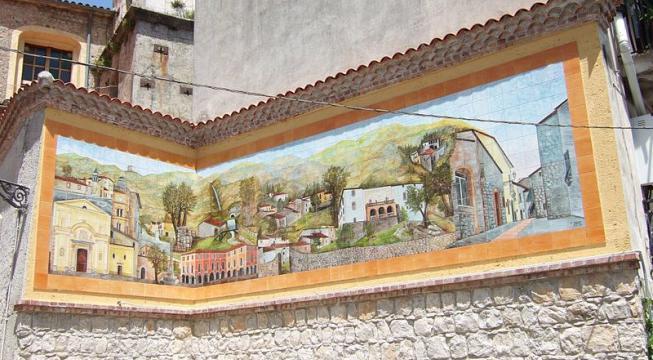 Pannello ceramico San Pietro al Tanagro